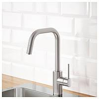 IKEA ALMAREN Смеситель для кухни с душем, сталь (803.416.46)