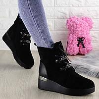 Женские зимние ботинки Louis черные 1311