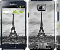"Чехол на Samsung Galaxy S2 i9100 Чёрно-белая Эйфелева башня ""842c-14"""