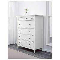 IKEA HEMNES Комод с 6 ящиками, белый (203.742.77)