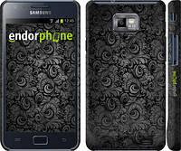 """Чехол на Samsung Galaxy S2 i9100 Чёрно-серые листья """"843c-14"""""""