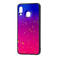 Чехол для Samsung Galaxy A20 / A30 color конфети сиреневый