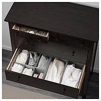 IKEA HEMNES Комод с 6 ящиками, черно-коричневый (602.392.68)