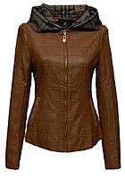 Куртка с капюшоном коричневая