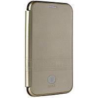Чехол IMax Leather Book Case — Apple iPhone 7 ; Apple iPhone 8 — Gold