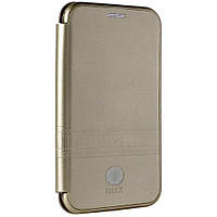 Чехол IMax Leather Book Case — Samsung A6 Plus 2018(A605) — Gold