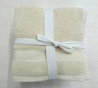 Набор полотенец 30*30 (5шт) Кремовые