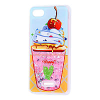 "Чехол для Xiaomi Redmi 6A Блестки вода ""мороженое"""