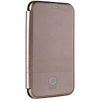 Чехол IMax Leather Book Case — Samsung A7 2018(A750) — Rose Gold