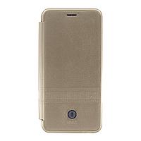 Чехол IMax Leather Book Case — Samsung J4 2018(J400) — Gold