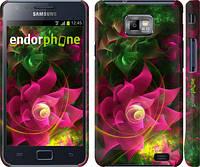 """Чехол на Samsung Galaxy S2 i9100 Абстрактные цветы 2 """"818c-14"""""""