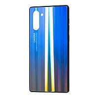 Чехол для Samsung Galaxy Note 10 (N970) Gradient glass синий