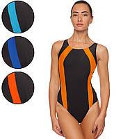 Купальник для плавания слитный женский 405 размер L-2XL рост 155-180см цвета в ассортименте Код 405