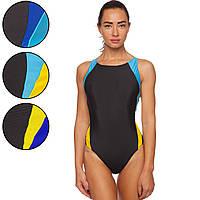 Купальник для плавания слитный женский 408 размер L-2XL рост 155-180см цвета в ассортименте Код 408