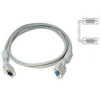 """Кабель аналоговый VGA для монитора 5м ATcom (Тип - VGA HD15M / HD15M (""""папа"""" -> """"папа""""), длина - 5m, защита от"""
