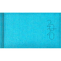 Еженедельник  2020 Brunnen 9*15,5см карманный Tweed 73-755 32_Зеленый светлый