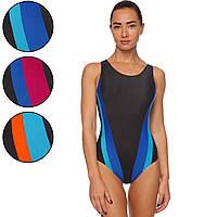 Купальник для плавания слитный женский CO-0839 размер L-2XL рост 155-180см цвета в ассортименте Код CO-0839