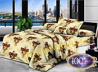Набор постельного белья Сатин №с52  Полуторный размер 150х215 см., фото 1