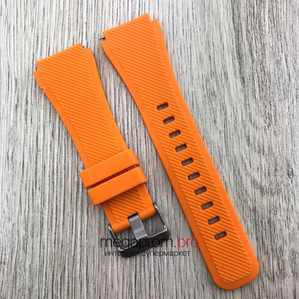 Ремешок каучуковый для Samsung Galaxy Watch 46 мм с креплением 22 мм оранжевый (08276)