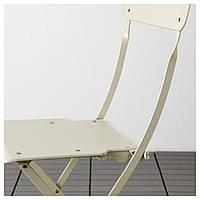 IKEA SALTHOLMEN Садовый стол и 4 раскладных стулья, бежевый (592.180.83)