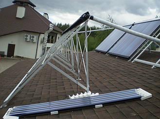Сборка солнечных коллекторов в пос. Подворки