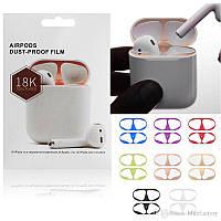 Металлическая пластина для Apple AirPods. Защита от пыли и царапин для наушников Dust Guard