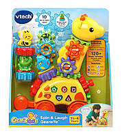 VTech Жираф с шестеренками музыкальная развивающая игрушка GearZooz Spin & Laugh Gearaffe