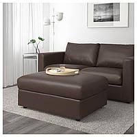 IKEA VIMLE Подставка для ног с ящиком для хранения, Фарста темно-коричневый (003.535.01)
