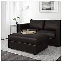 IKEA VIMLE Подставка для ног с ящиком для хранения, Фарста черный (103.534.97)