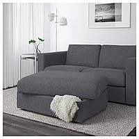 IKEA VIMLE Подставка для ног с ящиком для хранения, серо-серый (992.054.46)