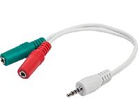"""Аудио-кабель Gembird CCA-417, 3.5мм 4-pin """"папа"""" / 3.5 мм стерео """"мама"""" + микрофон """"мама"""", черный цвет"""