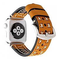 Браслет Leather Bracelet Series Thread Handmade — Apple watch 38 mm; 40 mm — Brown