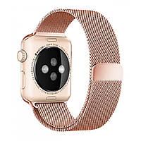 Браслет Milanese Loop Steel Bracelet — Apple watch 42 mm; 44 mm — Rose Gold