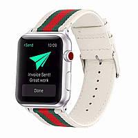 Браслет Nylon Bracelet Series Gucci Strap — Apple watch 42 mm; 44 mm — White