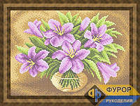 Набор для вышивки бисером - Букет лилий в вазе, Арт. НБп4-166-2