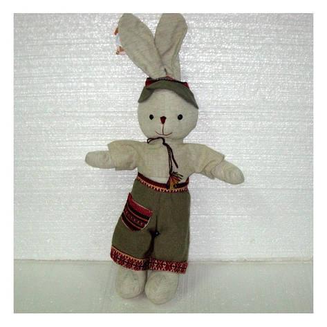 Мягкая игрушка зайчик Кирилл большой, фото 2