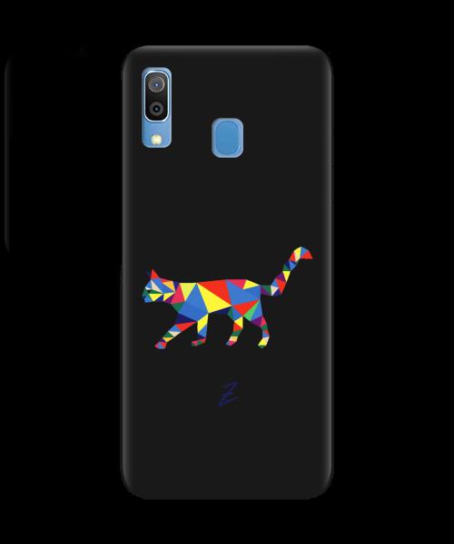 Чехол для телефона Zorrov на  Samsung Galaxy A20 Cat Black Matte
