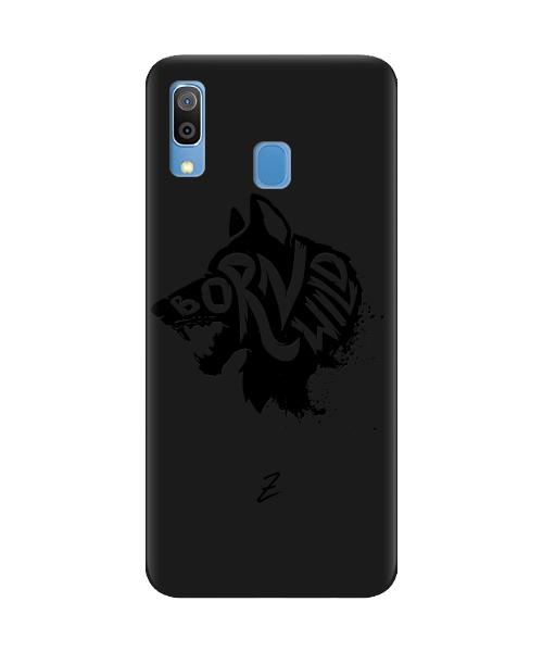 Чехол для телефона Zorrov на  Samsung Galaxy A20 Born Wild Black Matte