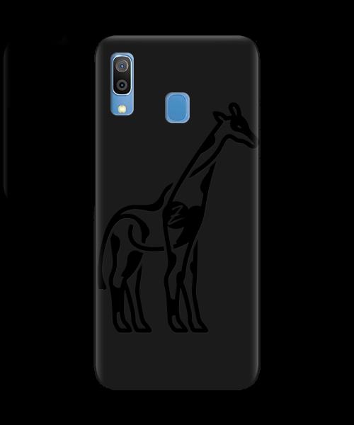 Чехол для телефона Zorrov на  Samsung Galaxy A20 Giraffe Black Matte
