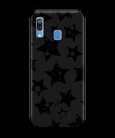 Чехол для телефона Zorrov на  Samsung Galaxy A20 Black Star Black Matte