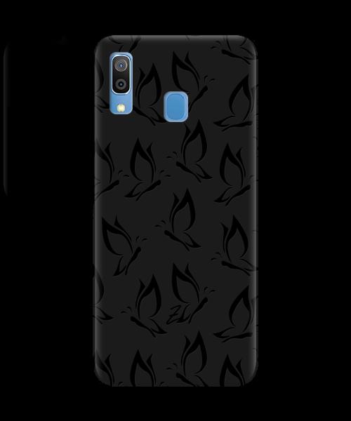 Чехол для телефона Zorrov на  Samsung Galaxy A20 Butterfly Black Matte