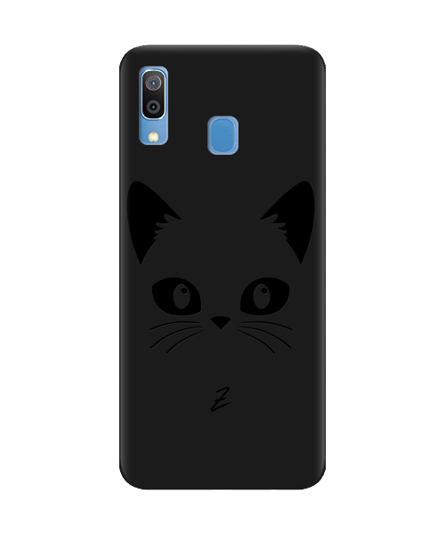Чехол для телефона Zorrov на  Samsung Galaxy A20 Cat Black Black Matte