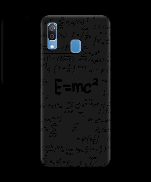 Чехол для телефона Zorrov на  Samsung Galaxy A30 Black Einstein Black Matte