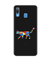 Чехол для телефона Zorrov на  Samsung Galaxy A30 Cat Black Matte
