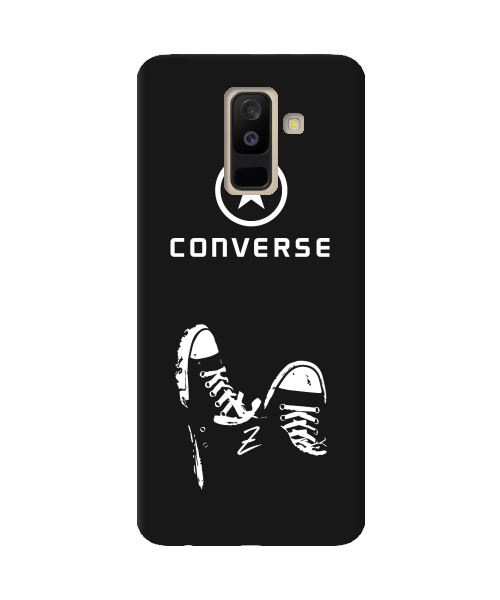 Чехол для телефона Zorrov на  Samsung Galaxy A6 Plus 2018 Converse Black Matte