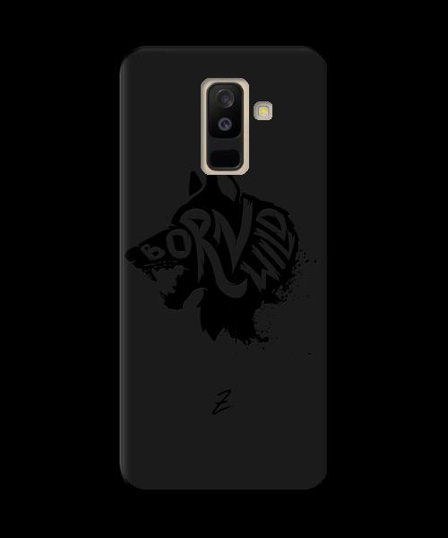 Чехол для телефона Zorrov на  Samsung Galaxy A6 Plus 2018 Born Wild Black Matte
