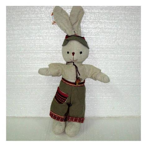 Мягкая игрушка зайчик Кирилл маленький, фото 2
