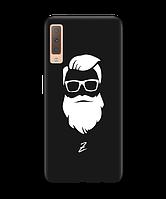 Чехол для телефона Zorrov на  Samsung Galaxy A7 2018 Beard Black Matte