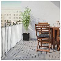 IKEA DYNING Балконный занавес, белый (803.407.84)