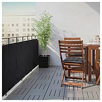 IKEA DYNING Балконный занавес, черный (803.380.12)